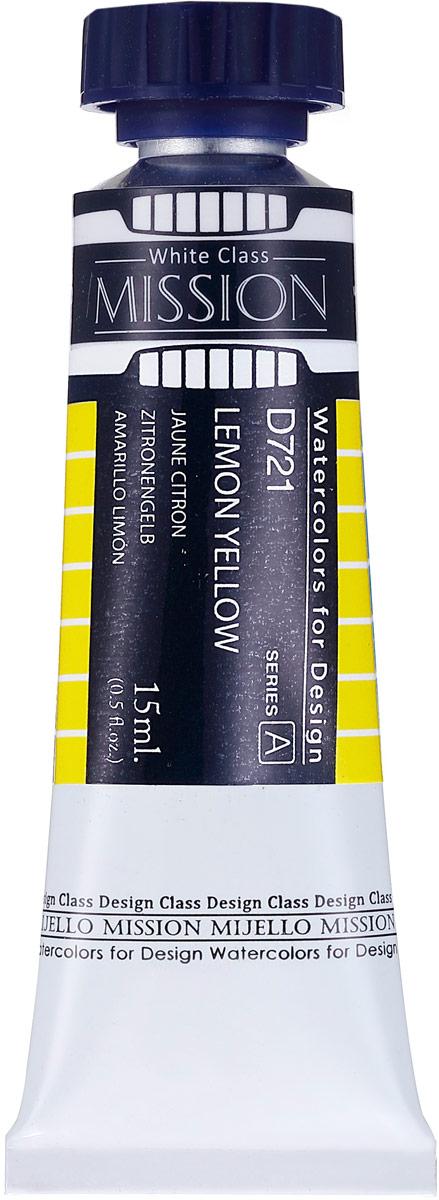Mijello Акварель Mission White цвет D721 желтый лимонный 15 млMWC-D721Серия акварельных красок Корейского производителя Mijello - Mission White состоит из 51 цвета. Эта серия акварели была создана компанией Mijello в сотрудничестве с экспертами в области акварельной живописи. В этой серии есть 2 специальных плотных цвета в больших тубах - белый и черный. Смешав акварель с этими цветами вы получите плотный матовый слой и сможете работать в постерных техниках Цвета акварели серии Mission White это смеси высококачественных пигментов тонкого помола с высококачественными компонентами и гуммиарабиком. Эти краски предлагаются в традиционной для Корейских производителей тубах по 15мл. Используйте краски Mijello серии Mission Gold для акварельной живописи по мокрому, они идеально подойдут для подобной техники работы с акварелью. Акварель Mijello Mission White будет отличным выбором как начинающему художнику, так и профессионалу.