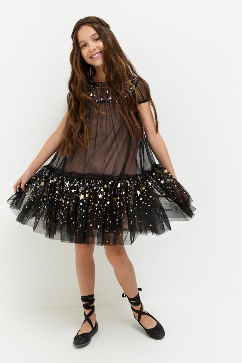 Платье для девочки Acoola Geisha, цвет: черный. 20210200205_100. Размер 13420210200205_100