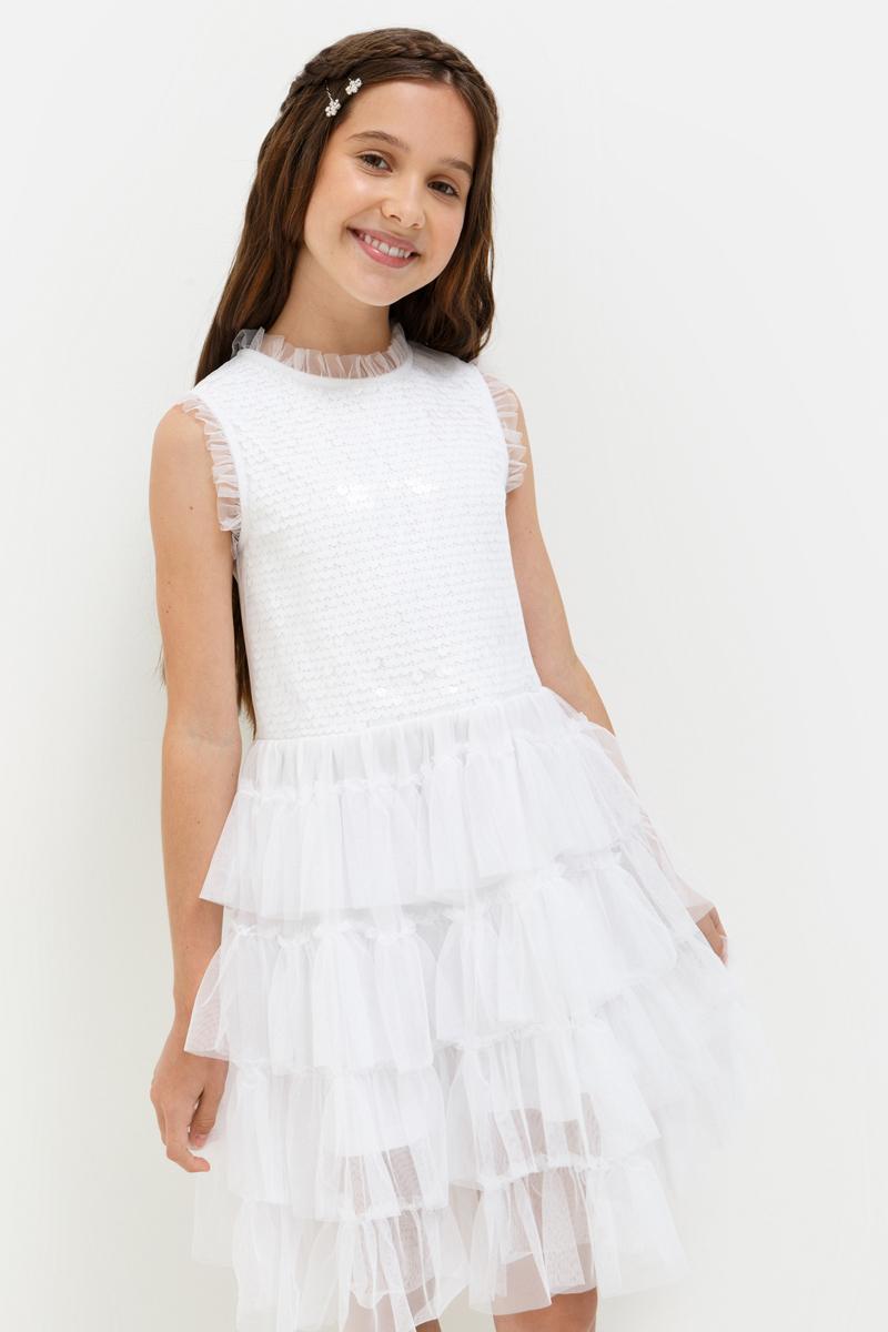 Платье для девочки Acoola Terravita, цвет: белый. 20210200203_200. Размер 16420210200203_200