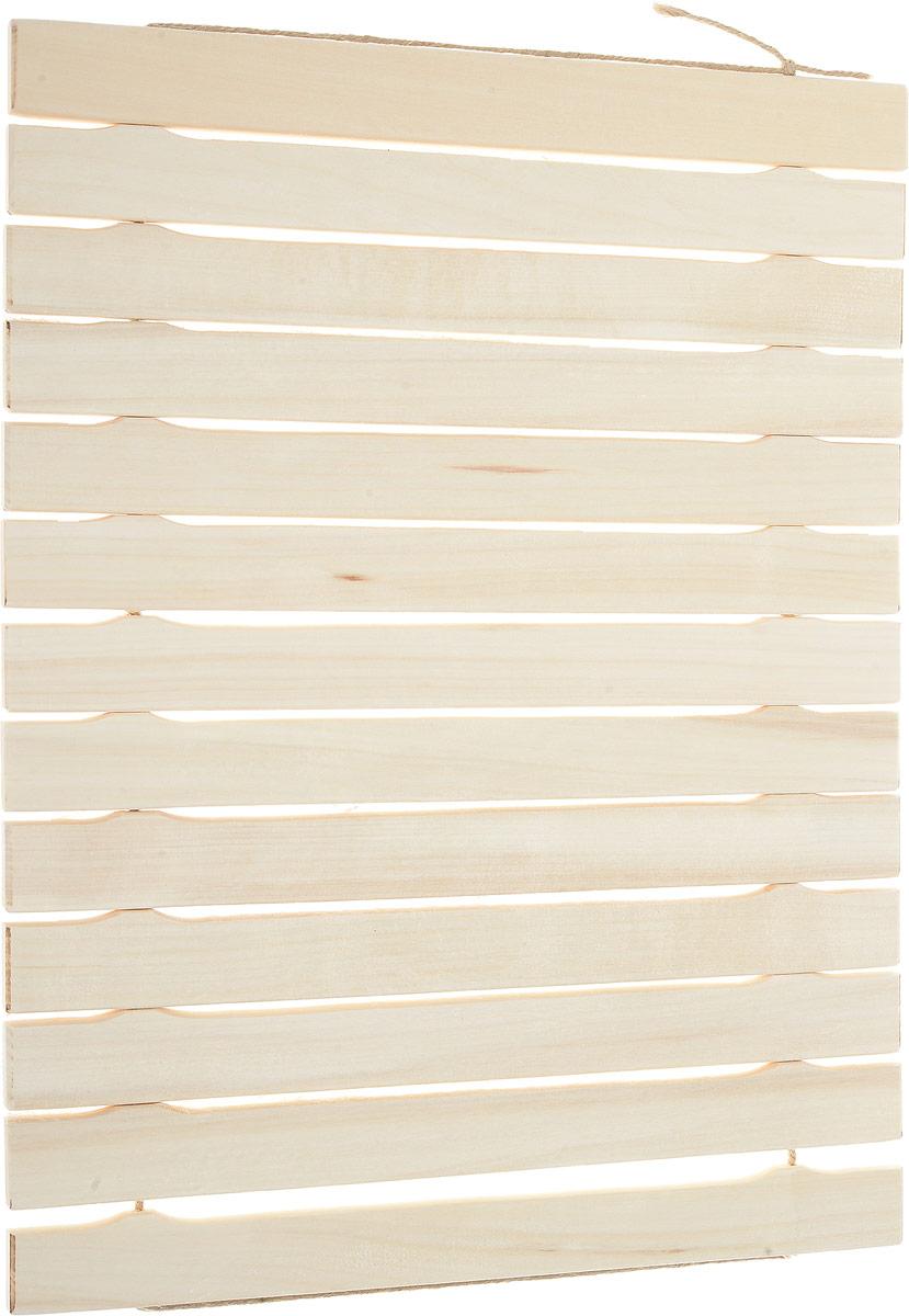 Коврик для бани и сауны Банные штучки, деревянный, 45 х 35 см32134Деревянный коврик для бани и сауны Банные штучки является средством личной гигиены. Коврик из липы защищает парильщика от контакта с перегретыми полками или лавками, поскольку липа не нагревается. Оригинальный коврик послужит замечательным подарком любителям попариться.