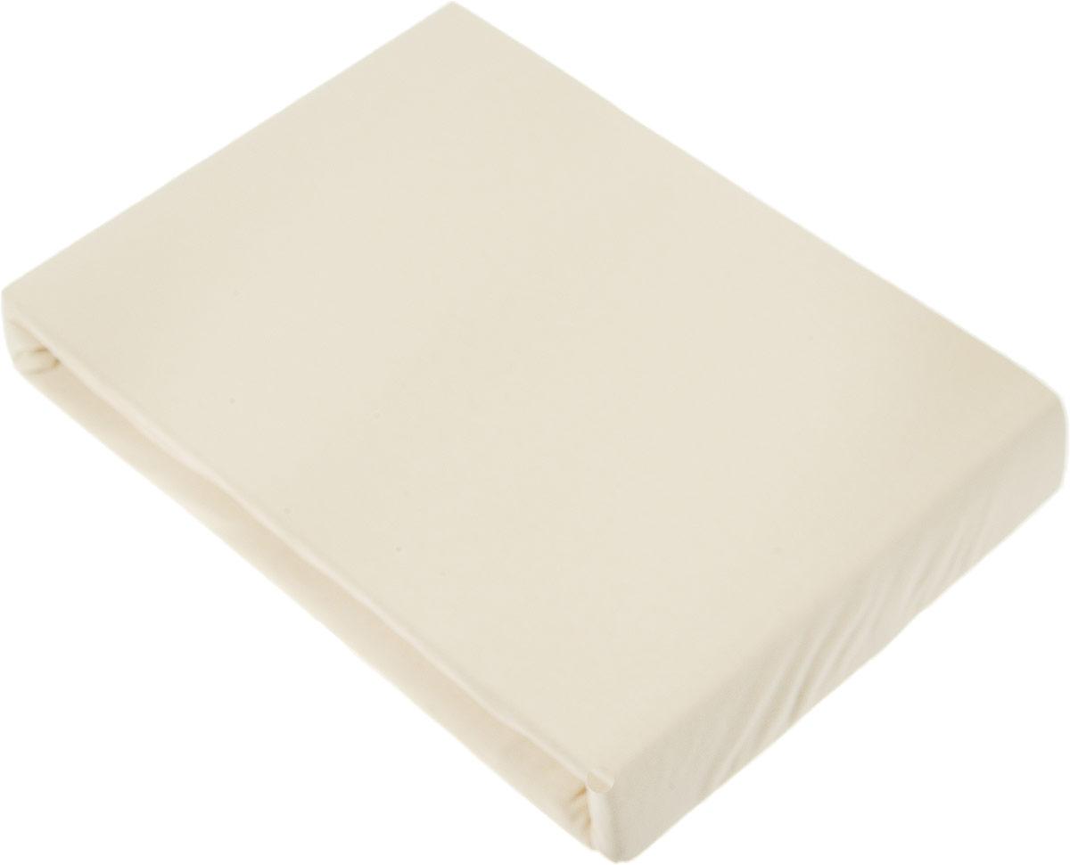 Простыня на резинке Tete-a-Tete Латунь, 180 х 200 смТ-ПР-3062Трикотажная простыня Tete-a-Tete изготовлена из 100 % хлопка высокого качества. Натуральный, экологически чистый материал обеспечивает высокую гигиеничность изделия. Трикотаж имеет достаточно рыхлую структуру, образованную переплетением петель, что обеспечивает его растяжимость и эластичность. Наличие резинки позволяет легко зафиксировать простыню на матрасе. Она не сминается и не комкается во время сна. Трикотаж достаточно эластичен, поэтому изделия из него можно даже не гладить. Если простыня немного больше кровати, с помощью резинки ее можно подогнать под размер кровати, учитывая толщину матраса. Также ее можно использовать в качестве наматрасника. Бортики натяжной простыни рассчитаны на матрасы высотой до 30 см. Резинка пришита по всему периметру простыни. Плотность 160 г/м2. Уход:машинная стирка 50°C, не отбеливать.Насыщенные цвета стирать отдельно. Характеристики:Материал: 100% гребенной хлопок. Размер простыни: 180 см х 200 см х 30 см. Размер упаковки: 27 см х 37 см х 5,5 см. Артикул: Т-ПР-3062.