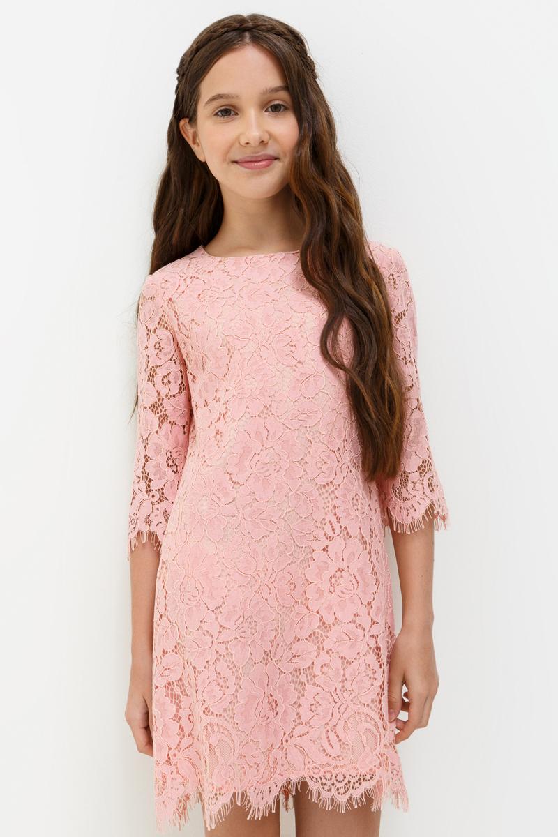 Платье для девочки Acoola Miranda, цвет: светло-розовый. 20210200199_3400. Размер 14620210200199_3400