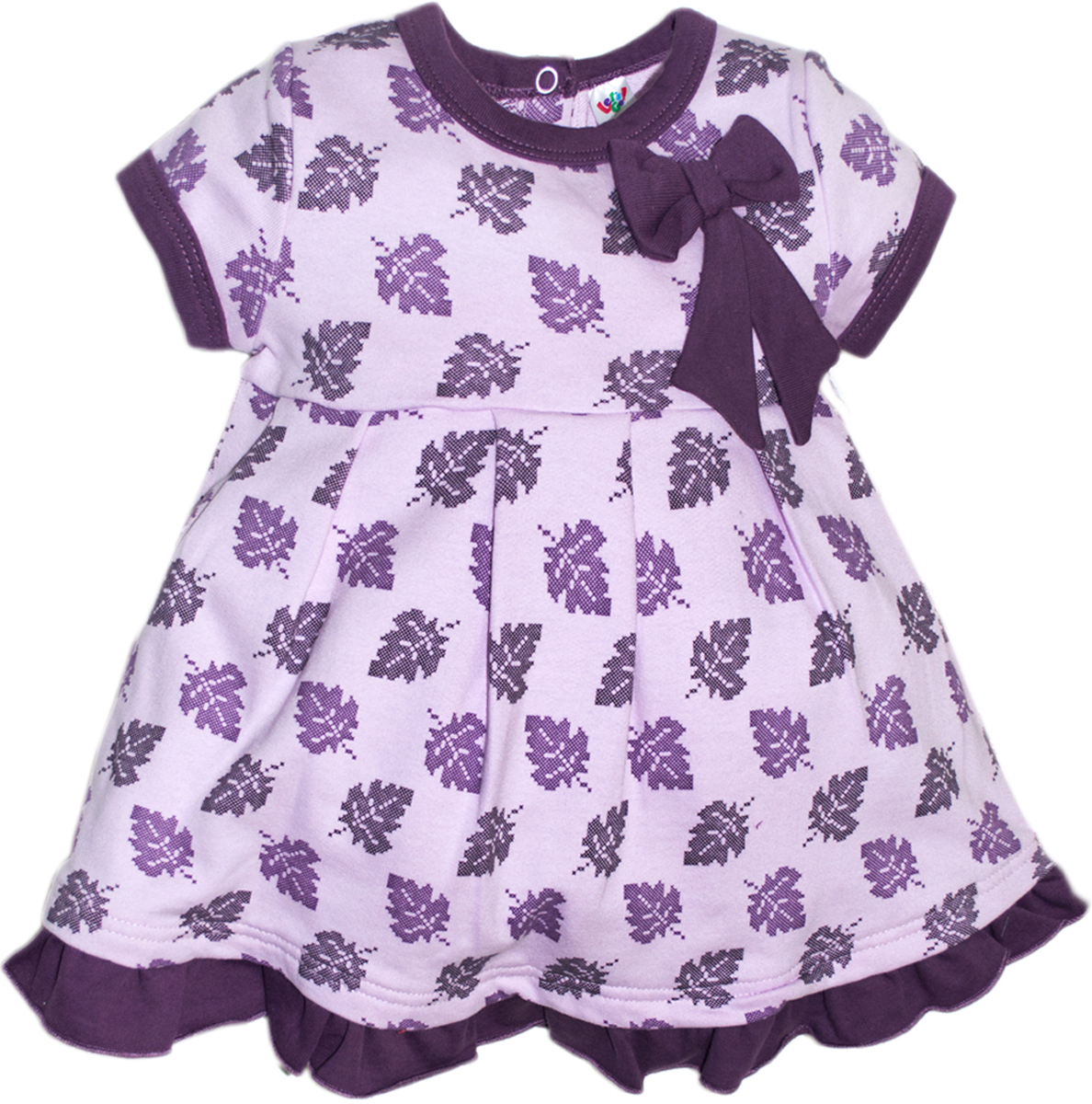 Платье для девочки Let's Go, цвет: сиреневый. 8123. Размер 86 платье без рукавов с декоративным бантом