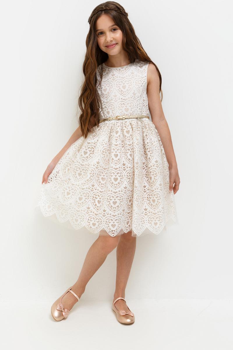 Платье для девочки Acoola Charlotte, цвет: светло-розовый. 20210200197_3400. Размер 16420210200197_3400Стильное платье Acoola идеально подойдет вашей дочурке. Платье выполнено из полиэстера с подкладкой из полиэстера и вискозы. Удлиненное платье без рукавов и круглым вырезом горловины дополнено принтом. Модель застегивается на молнию, расположенную на спинке. На талии платье дополнено декоративным ремешком с металлической пряжкой.