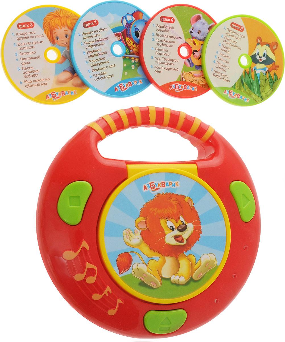 Азбукварик CD-плеер с огоньками Песенки из мультиков песни для вовы 308 cd
