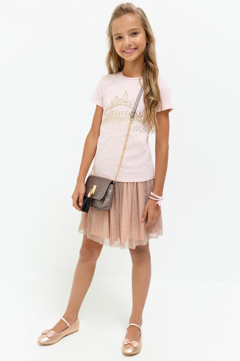 Юбка для девочки Acoola Nesquik, цвет: светло-розовый. 20210180060_3400. Размер 14020210180060_3400