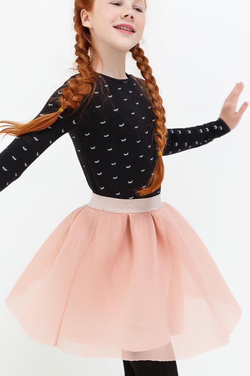 Юбка для девочки Acoola Kaya, цвет: светло-розовый. 20210180056. Размер 14020210180056/20220180053Оригинальная юбка от Acoola выполнена из плотной сетки на трикотажной подкладке, декорированная эластичной резинкой из люрекса на талии.