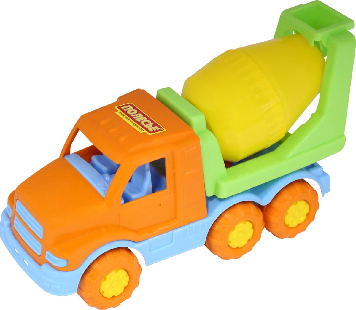 Полесье Бетоновоз Гоша цвет оранжевый желтый голубой полесье гоночный автомобиль торнадо цвет желтый