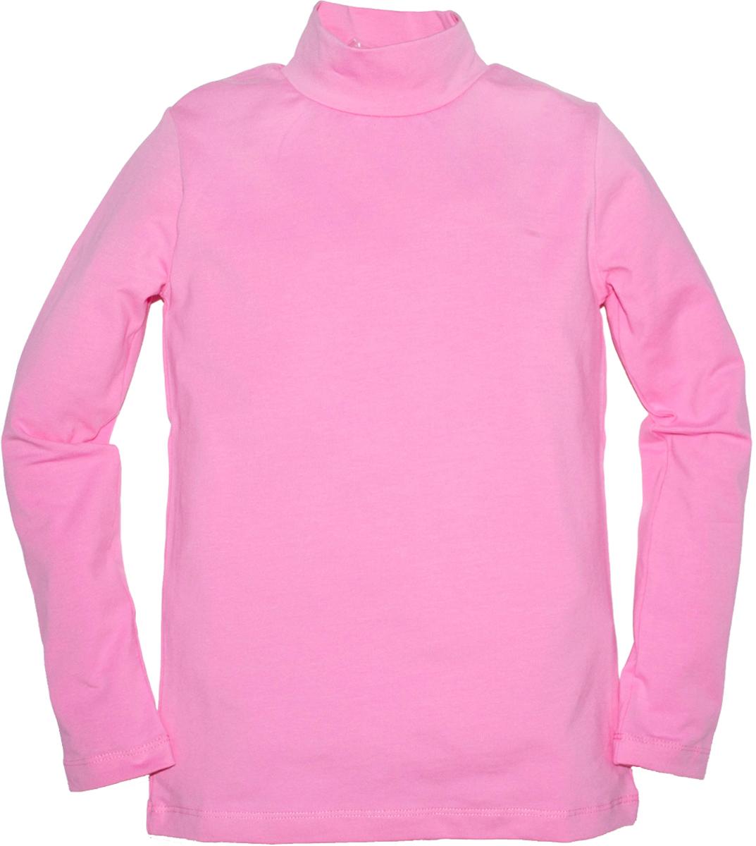Водолазка для девочек Lets Go, цвет: розовый.614. Размер 140614