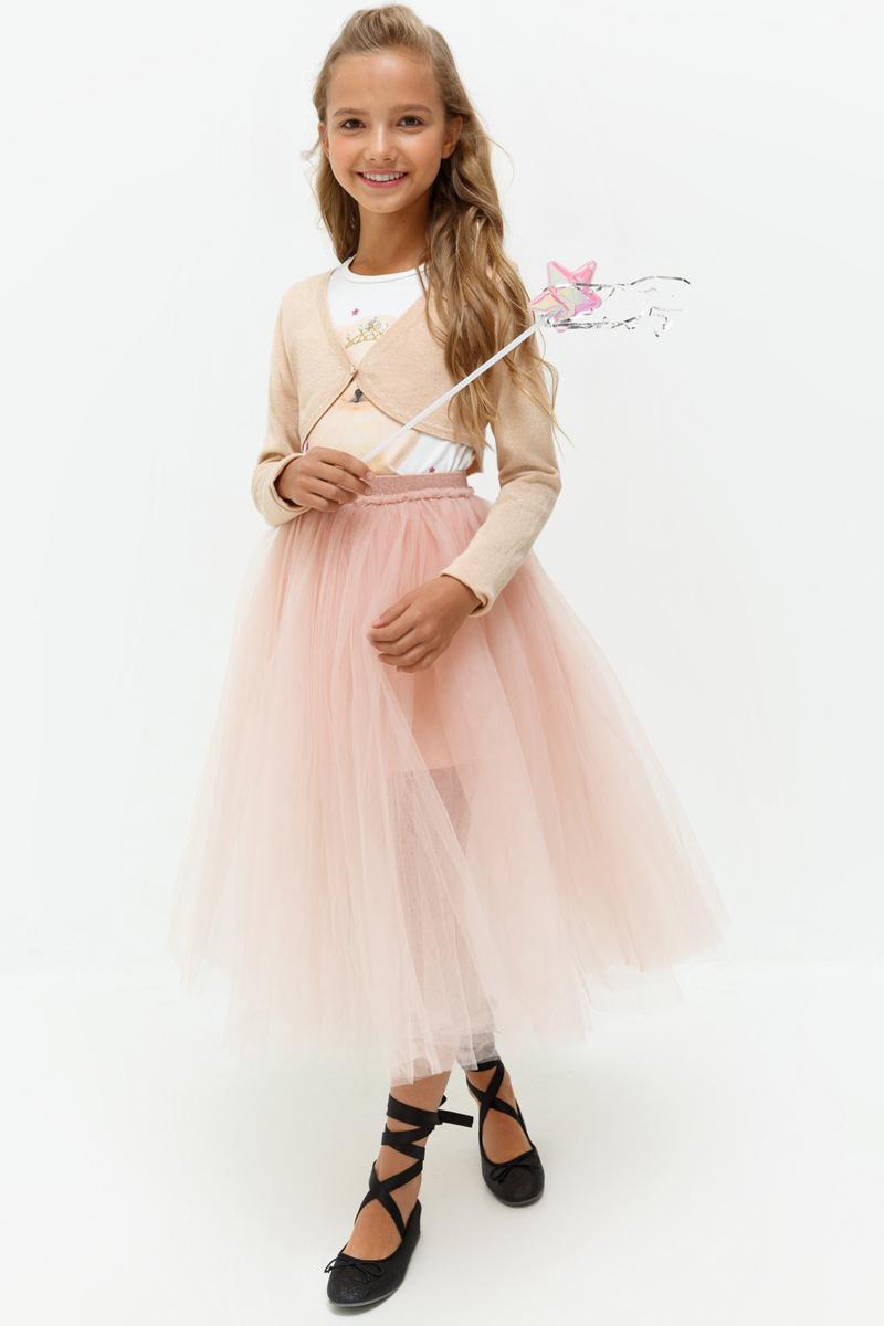 Жакет для девочки Acoola Sabrina, цвет: светло-розовый. 20210130119_3400. Размер 16420210130119_3400Жакет для девочки Acoola идеально подойдет вашей маленькой моднице. Изготовленный из высококачественных материалов, он необычайно мягкий и приятный на ощупь. Модель с длинными рукавами и V - образным вырезом горловины застегивается на кнопку. Вырез горловины, низ жакета и рукава дополнены трикотажной эластичной резинкой
