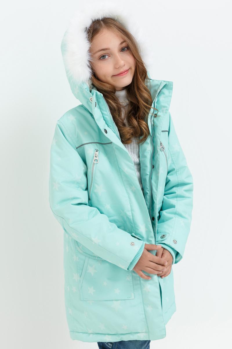 Куртка для девочки Acoola Libra, цвет: светло-бирюзовый. 20210130114_9300. Размер 164 футболка с длинным рукавом для девочки acoola avon цвет светло розовый 20210100132 размер 164