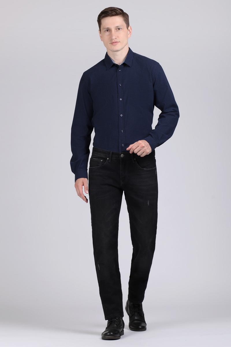 Рубашка мужская Tom Farr, цвет: темно-синий. TM1001.38809-1-coll. Размер M (48)TM1001.38809-1-collМужская рубашка от Tom Farr выполнена из натурального хлопка. Модель с длинными рукавами и отложным воротником застегивается на пуговицы. Манжеты на пуговицах.