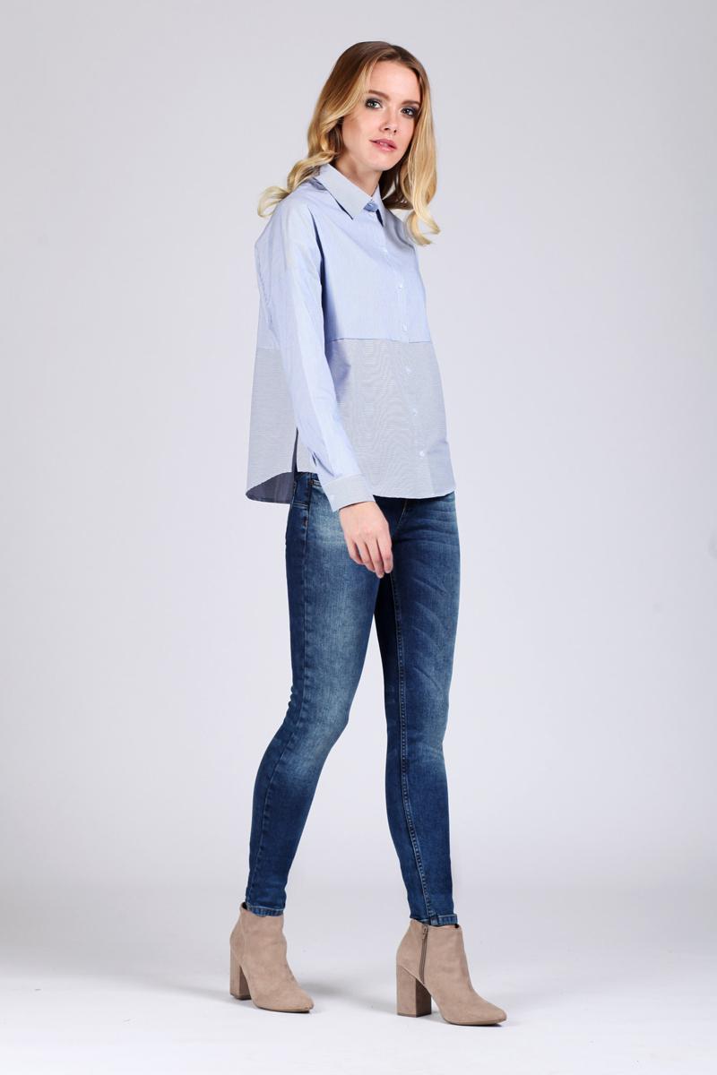 Блузка женская Tom Farr, цвет: голубой. TW1501.33808-1-coll. Размер XXS (40) костюмы tom farr костюм