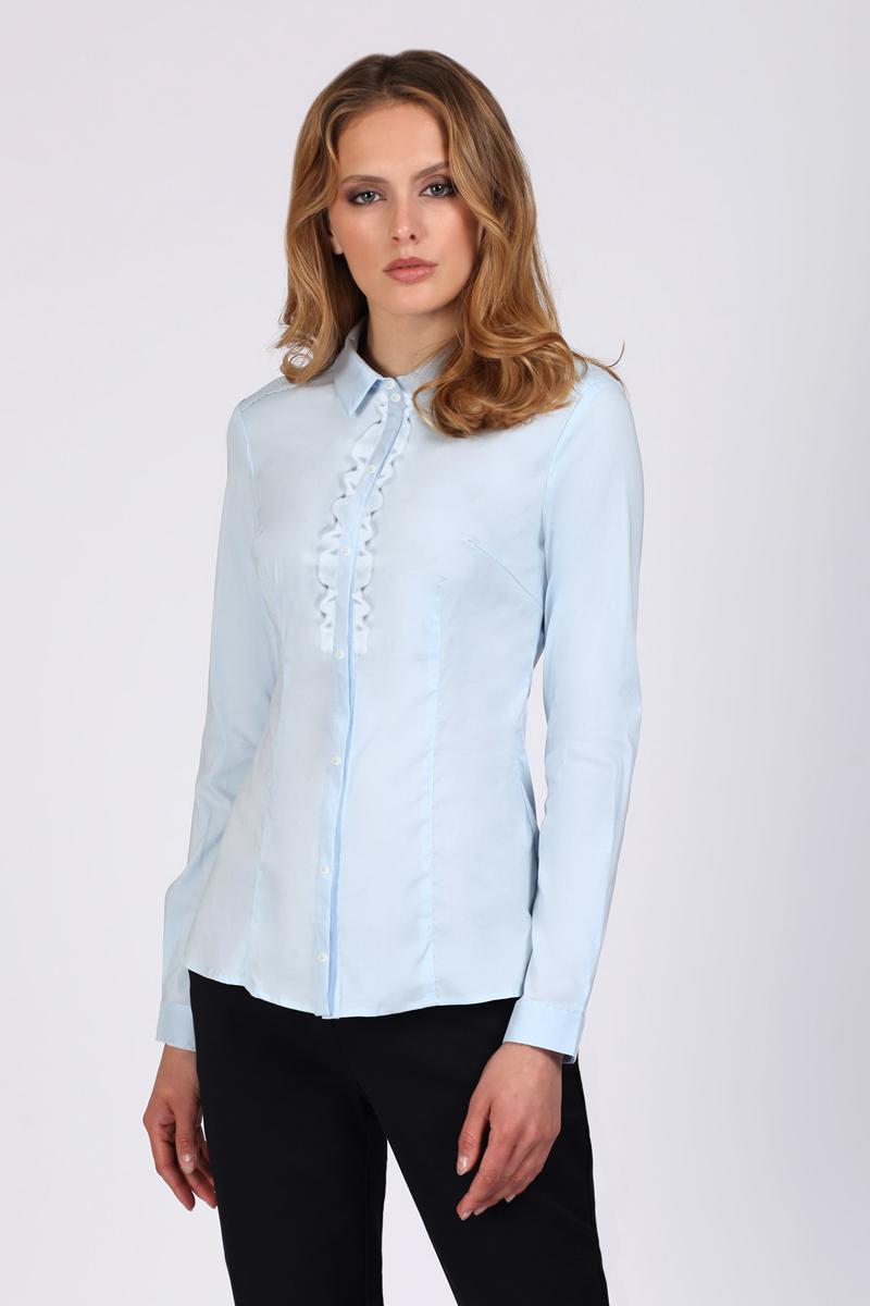 Блузка женская Tom Farr, цвет: голубой. TW1508.33808-1-coll. Размер XL (50)TW1508.33808-1-coll