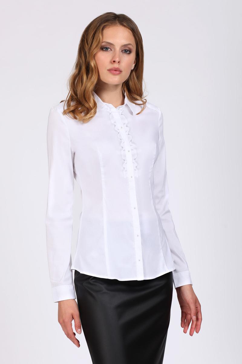 Блузка женская Tom Farr, цвет: белый. TW1508.50808-1-coll. Размер XS (42)TW1508.50808-1-collЖенская блузка от Tom Farr выполнена из хлопкового материала. Модель с длинными рукавами и отложным воротником застегивается на пуговицы. Манжеты на пуговицах.