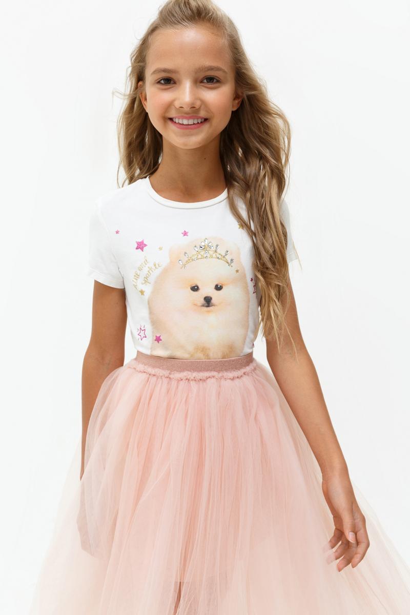 Футболка для девочки Acoola Eclairs, цвет: молочный. 20210110110_300. Размер 14020210110110_300