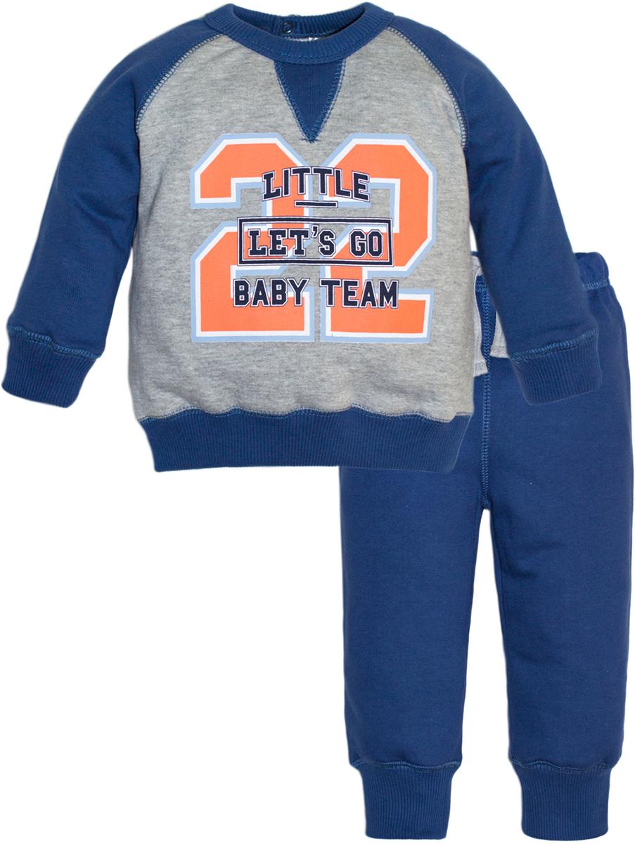 Комплект одежды для мальчиков Lets Go, цвет: синий.11124. Размер 7411124