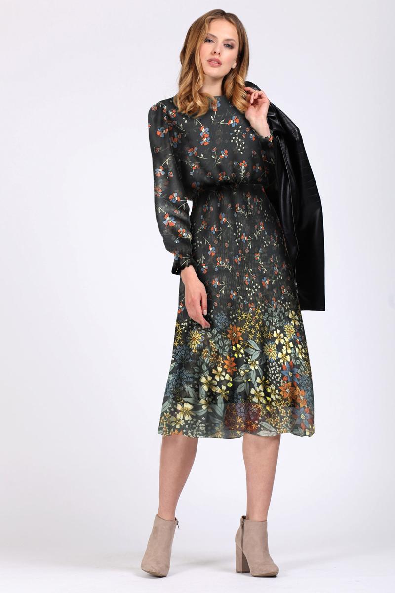 Платье Tom Farr, цвет: темно-синий. TW1568.38808-1-coll. Размер XXS (40)TW1568.38808-1-collПлатье от Tom Farr выполнено из высококачественного материала. Модель приталенного кроя с круглым вырезом горловины и длинными рукавами застегивается на потайную молнию.