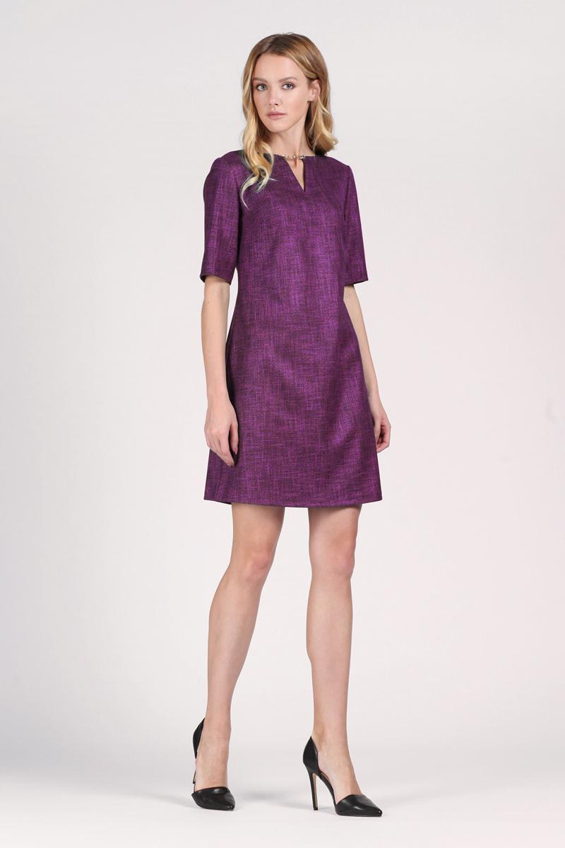 Платье Tom Farr, цвет: фуксия. TW1575.89808-1-coll. Размер M (46)TW1575.89808-1-collПлатье от Tom Farr выполнено из высококачественного материала. Модель приталенного кроя с фигурным вырезом горловины и короткими рукавами на спинке застегивается на потайную молнию.