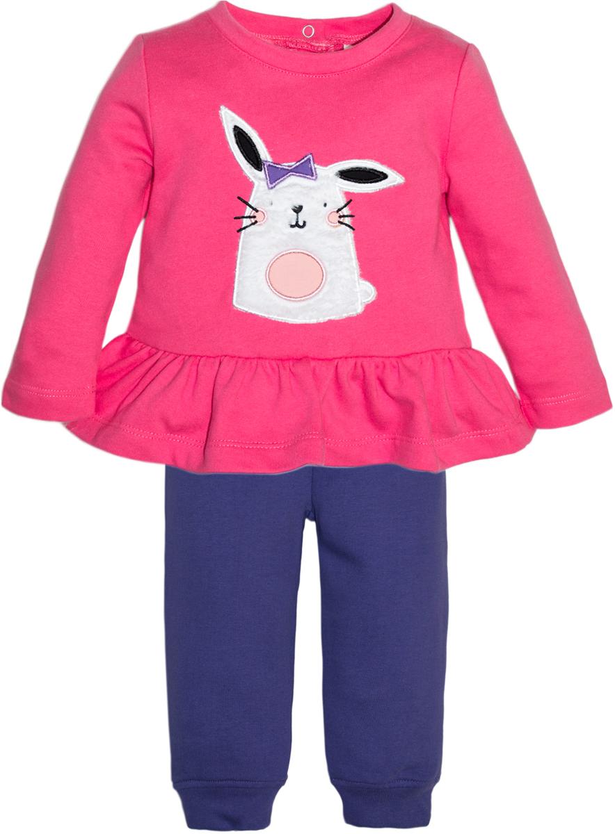 Комплект одежды для девочки Let's Go, цвет: фиолетовый. 11116. Размер 86