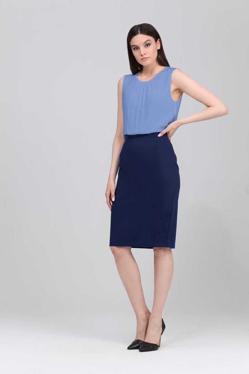 Топ женский Tom Farr, цвет: голубой. TW1578.38808-1-coll. Размер M (46)