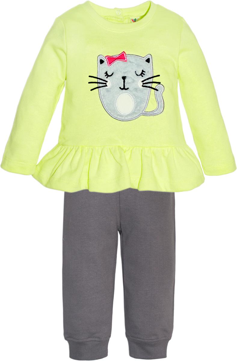 Комплект одежды для девочки Let's Go, цвет: светло-зеленый. 11116. Размер 86