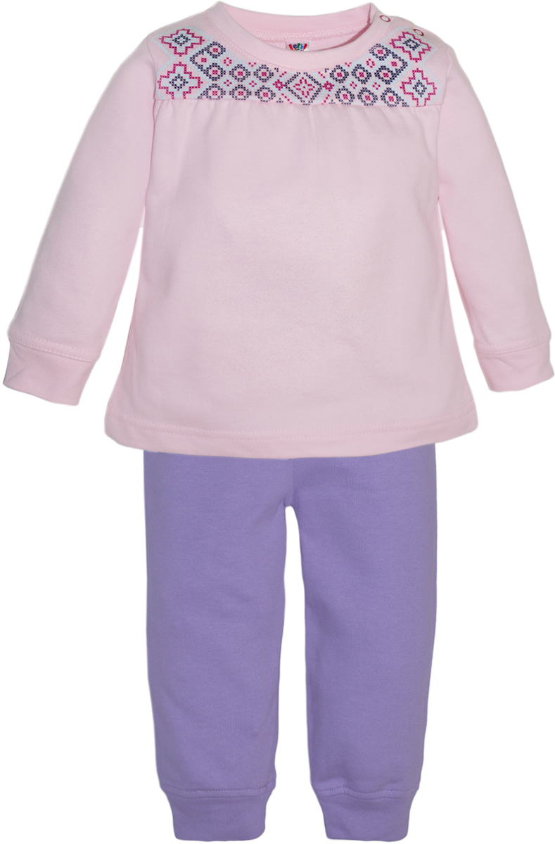 Комплект одежды для девочки Let's Go, цвет: сиреневый. 11115. Размер 74 комплект одежды для девочки let s go футболка бриджи цвет лиловый фиолетовый 4132 размер 74