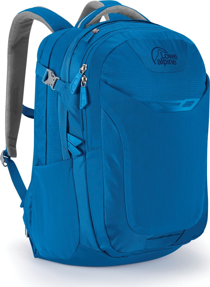 Рюкзак городской Lowe Alpine Core 34 , цвет: голубой, серый, 34 лFDP-44Рюкзак Core 34 - вместительный городской рюкзак с отделением для ноутбука диагональю до 15, органайзером внутри и несколькими отделениями для удобной организации ваших вещей. Выполнен из нейлона. Оснащен эргономичными регулируемыми плечевыми ремнями, ручкой для переноски. Имеет вместительный эластичный передний карман.