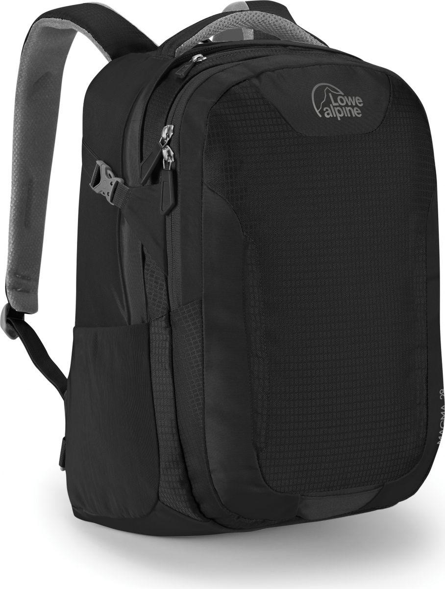 Рюкзак городской Lowe Alpine Magma 28 , цвет: черный, серый, 28 лFDP-47Городской рюкзак Magma объемом 28 литров выполнен из нейлона. Он имеет мягкое отделение для ноутбука, отделением для книг и папок, отсек для планшета, карман для телефона и хорошую организацию мобильного офиса. Очень удобный и вместительный, он идеально подходит для повседневного использования, а также различных путешествий и походов. Эластичные боковые карманы, стяжки для фиксации содержимого, мягкая спинка и плечевые лямки рюкзака для комфорта.