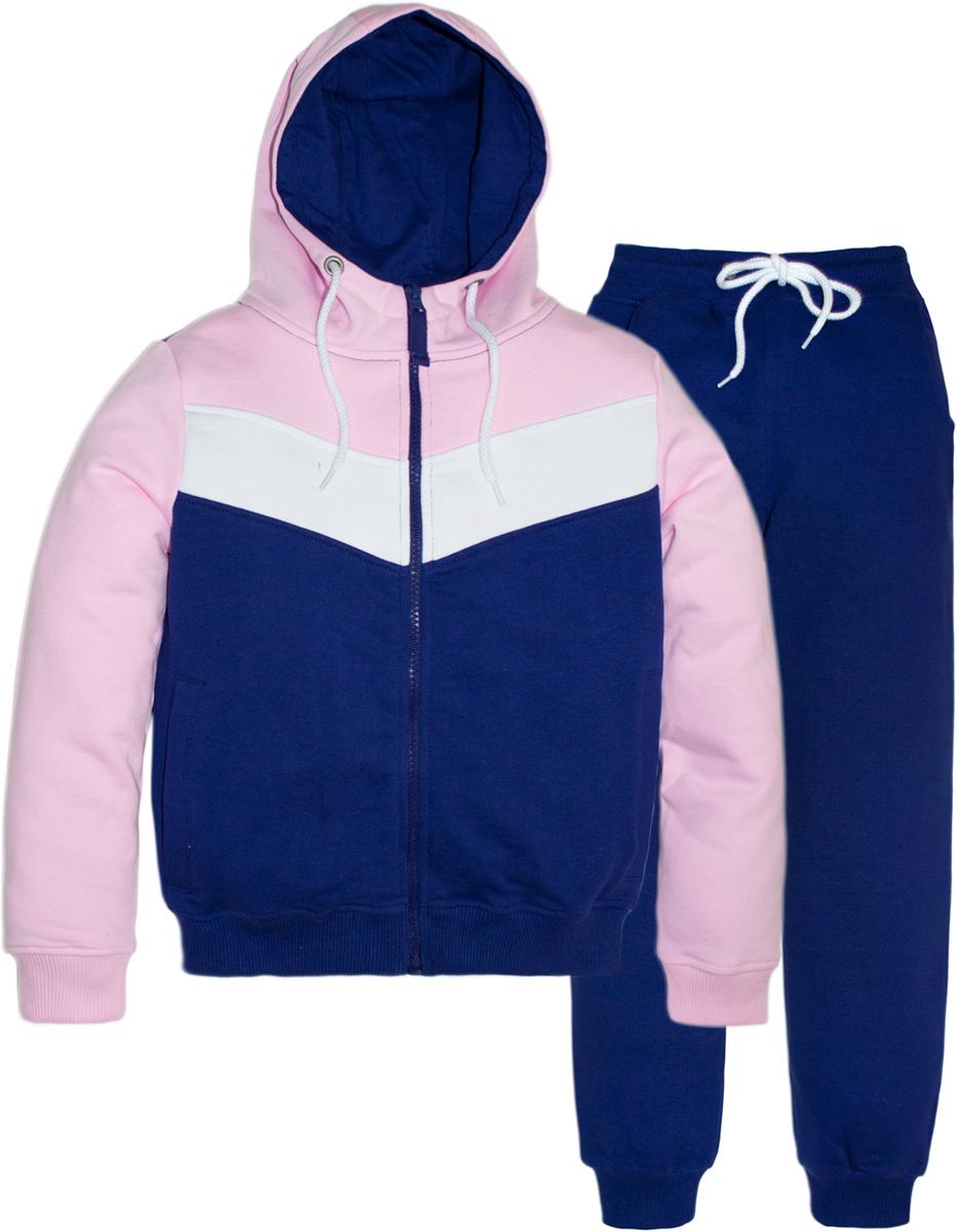 Спортивный костюм для девочки Let's Go, цвет: фиолетовый. 11114. Размер 164 толстовки и кофты