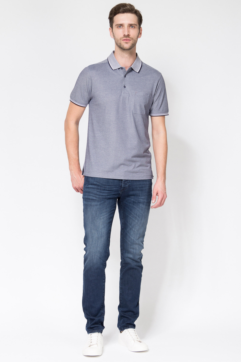 Джинсы мужские Tom Farr, цвет: синий. TM2102.37703-1-coll. Размер 31-34 (48/50-34)TM2102.37703-1-collМужские джинсы от Tom Farr выполнены из эластичного хлопкового денима. Модель прямого кроя в поясе застегивается на пуговицу и имеет ширинку на молнии, имеются шлевки для ремня. Джинсы имеют классический пятикарманный крой.