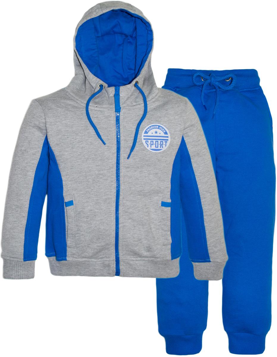 Спортивный костюм для девочки Let's Go, цвет: синий. 11110. Размер 128