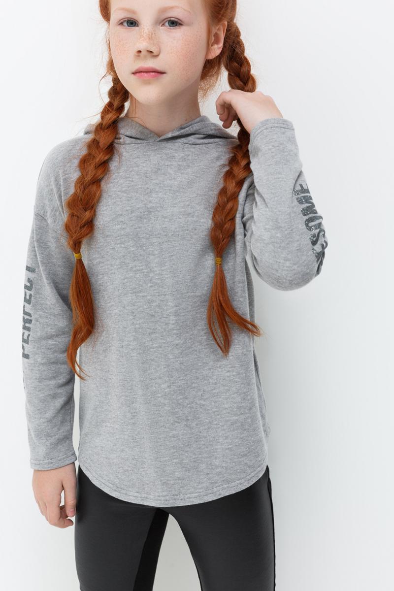 Джемпер для девочки Acoola Faberlic, цвет: светло-серый. 20210100148_1800. Размер 164 футболка с длинным рукавом для девочки acoola avon цвет светло розовый 20210100132 размер 164