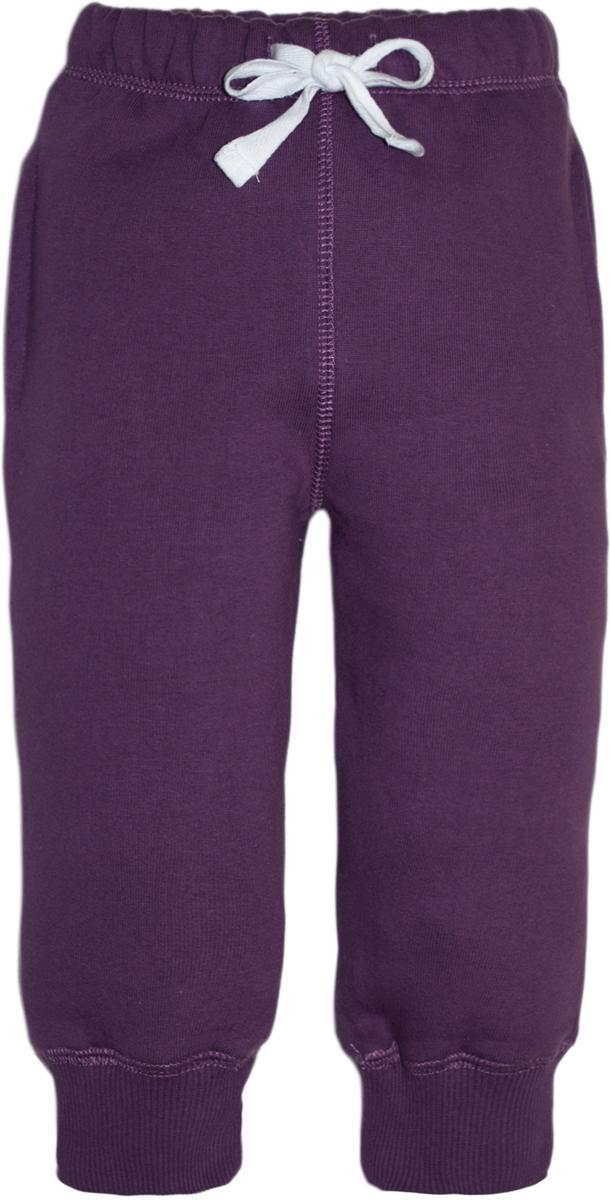 Брюки спортивные для девочки Lets Go, цвет: фиолетовый. 10149. Размер 8010149Спортивные брюки Lets Go выполнены из высококачественного материала. Пояс дополнен кулиской. Модель с карманами по бокам.