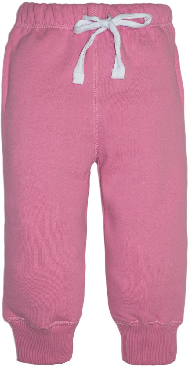 Брюки спортивные для девочки Lets Go, цвет: розовый. 10149. Размер 8010149Спортивные брюки Lets Go выполнены из высококачественного материала. Пояс дополнен кулиской. Модель с карманами по бокам.