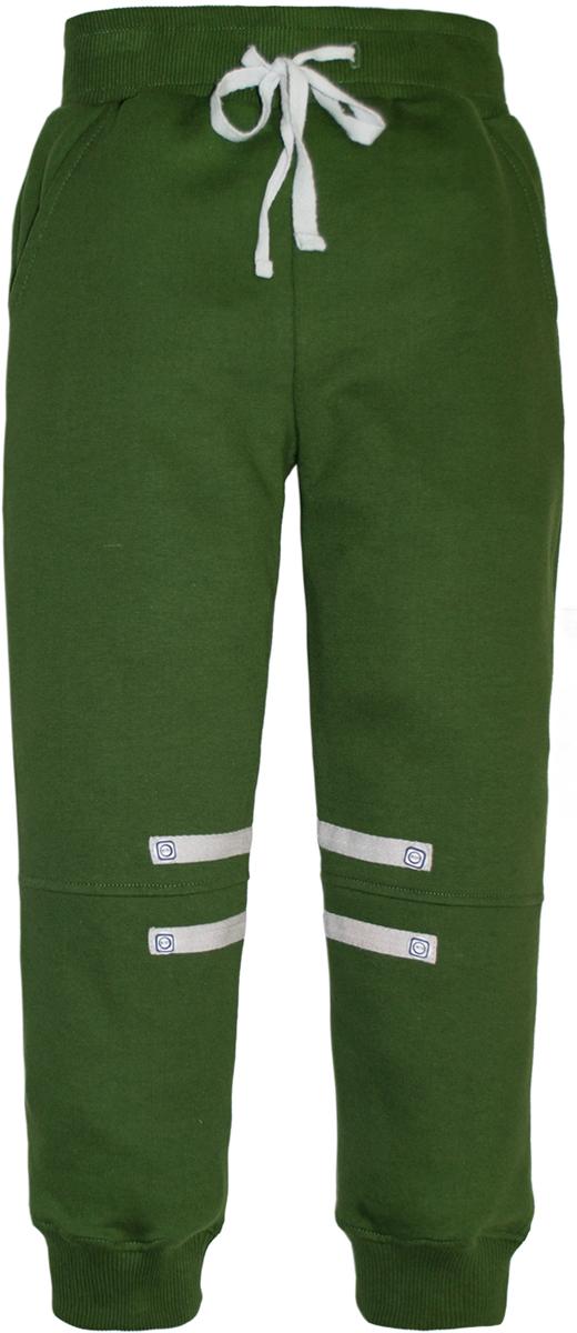 Брюки спортивные для мальчика Lets Go, цвет: зеленый. 10148. Размер 9210148Спортивные брюки для мальчика Lets Go выполнены из высококачественного материала. Пояс и низ брючин выполнены из трикотажной резинки. Спереди модель дополнена двумя карманами.
