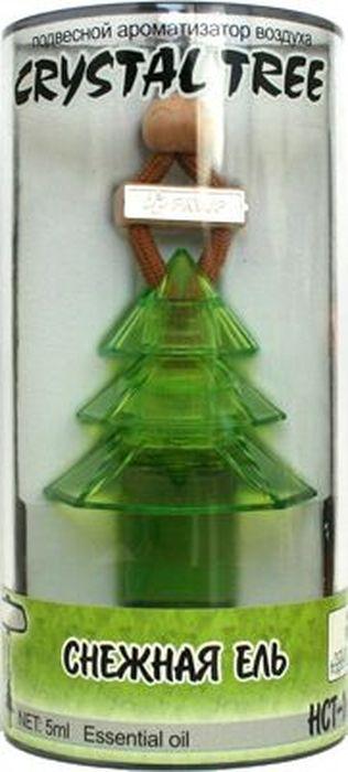 Ароматизатор автомобильный FKVJP Crystal Tree. Снежная ель, подвеска, 5 млHCT-169Автомобильный ароматизатор эффективно устраняет неприятные запахи и придает приятный аромат кофе. Кроме того, ароматизатор обладает элегантным дизайном.