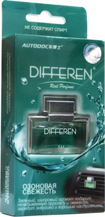 Ароматизатор автомобильный Autodoc Differen. Озоновая свежесть, на дефлектор, 11 млK-1003Автомобильный ароматизатор эффективно устраняет неприятные запахи и придает приятный аромат. Кроме того, ароматизатор обладает элегантным дизайном.