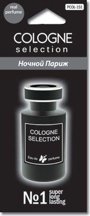 Ароматизатор автомобильный FKVJP Cologne Selection. Ночной Париж, подвеска, ароматизатор автомобильный fkvjp cologne selection соблазн спрей 50 мл