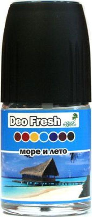 Ароматизатор автомобильный FKVJP Deo Fresh. Море и лето, спрей, 50 млSPDF-07Автомобильный ароматизатор эффективно устраняет неприятные запахи и придает приятный аромат. Кроме того, ароматизатор обладает элегантным дизайном.