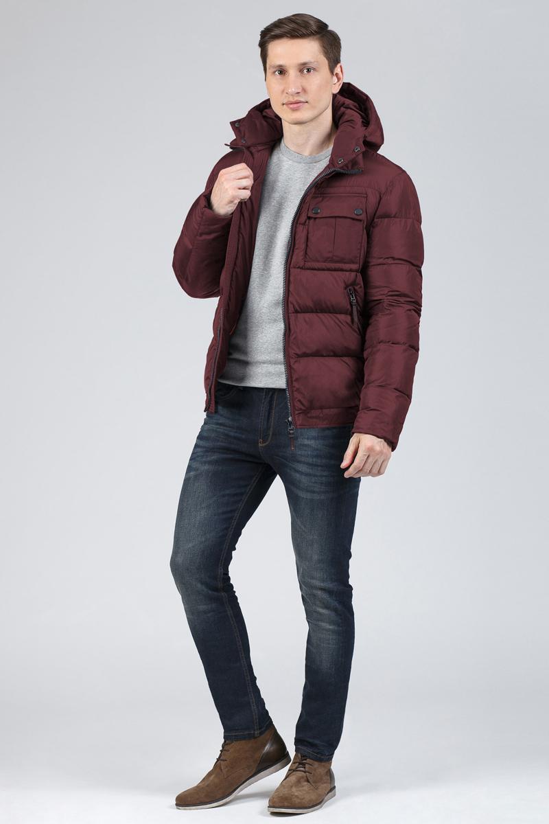 Пуховик мужской Tom Farr, цвет: бордовый. T4FM3103.28810-1. Размер XXL (54)