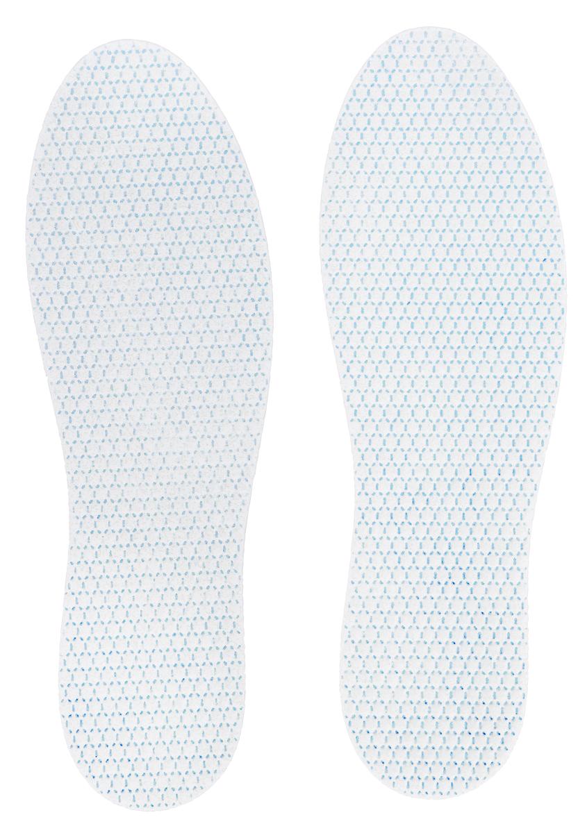 Стельки антибактериальные MiniMax, 2 пары, цвет: белый. Размер 42-4488203Стельки для обуви MiniMax от запаха. Ультратонкие стельки - ароматизированные и антигрибковые. Трехслойные стельки с антибактериальным и антимикробным веществом Sanitized - пиритион цинка.