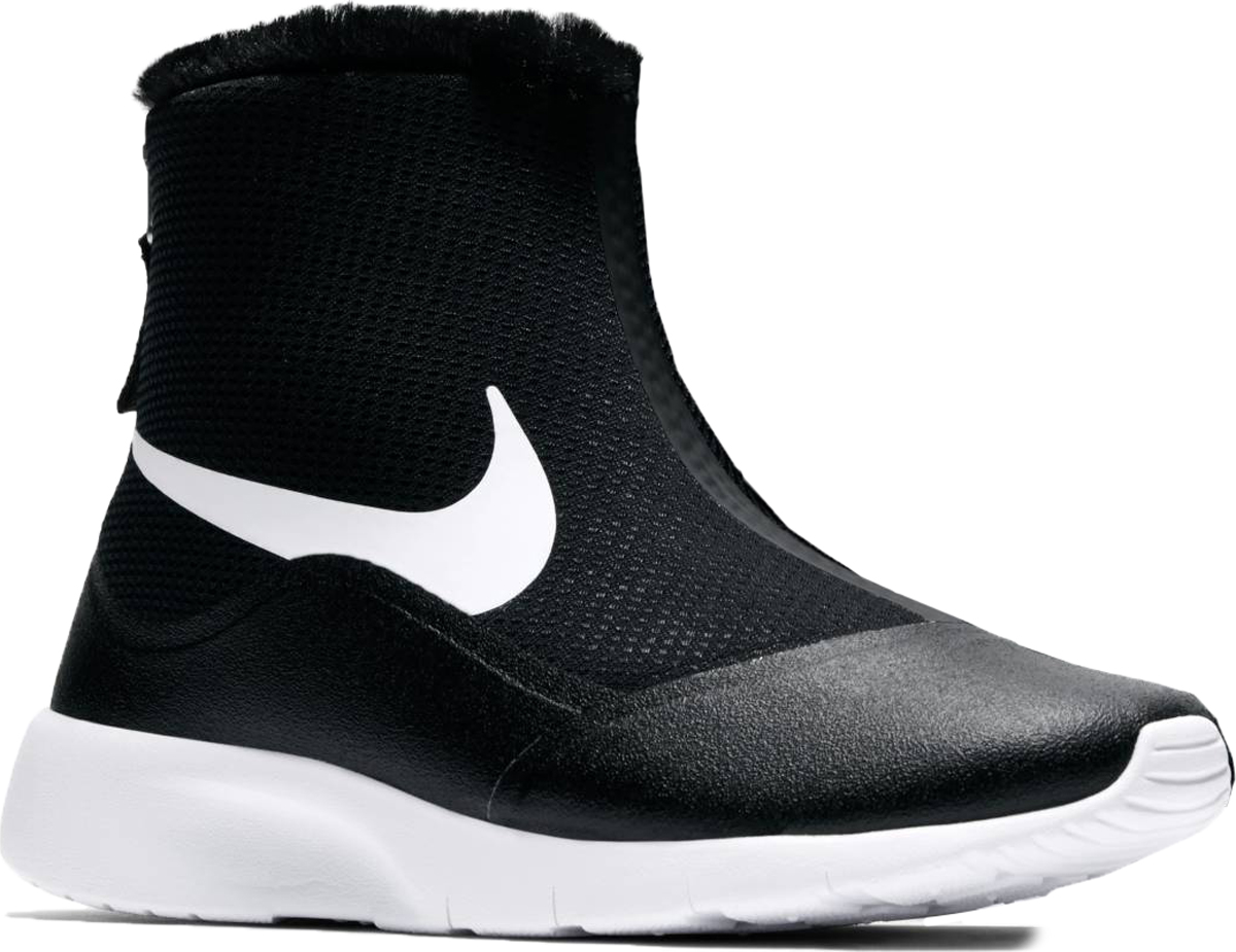 Полусапоги для девочки Nike Tanjun High (GS), цвет: черный. 922869-005. Размер 6 (37,5)922869-005Полусапоги для девочек Nike Tanjun High (GS) создают элегантный образ даже в плохую погоду. Влагонепроницаемый верх и мягкий внутренний слой из меха защищают от непогоды, а резиновая подметка с нанесенными при высокой температуре канавками обеспечивает естественную свободу движений. Влагонепроницаемый верх защищает от влаги. Теплый и мягкий внутренний слой из меха обеспечивает комфорт. Удобно снимать и надевать благодаря конструкции без шнурков. Легкая и прочная инжектированная подошва значительно снижает вес обуви.