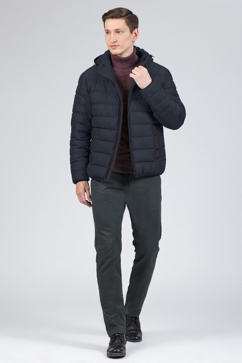 Пуховик мужской Tom Farr, цвет: темно-синий. T4FM3107.67810-1. Размер XL (52) пуховик мужской geox цвет темно зеленый m8225bt2449f3179 размер 56