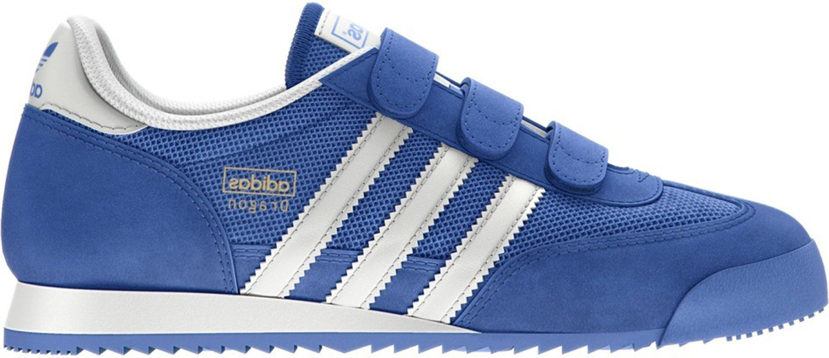 Кроссовки для мальчика Adidas Dragon CF C, цвет: синий. D67699. Размер 34 (34)D67699Легендарные кроссовки Dragon от adidas, изменившие культуру бега в 70-х годах. Эта детская пара - уменьшенная копия винтажной модели. Верх из сетчатого материала и искусственной замши с застежкой липучках. Резиновый бампер на мыске. Дышащая сетчатая подкладка. Пористая стелька OrthoLite с антибактериальным покрытием. Промежуточная подошва из легкого ЭВА для оптимальной амортизации.