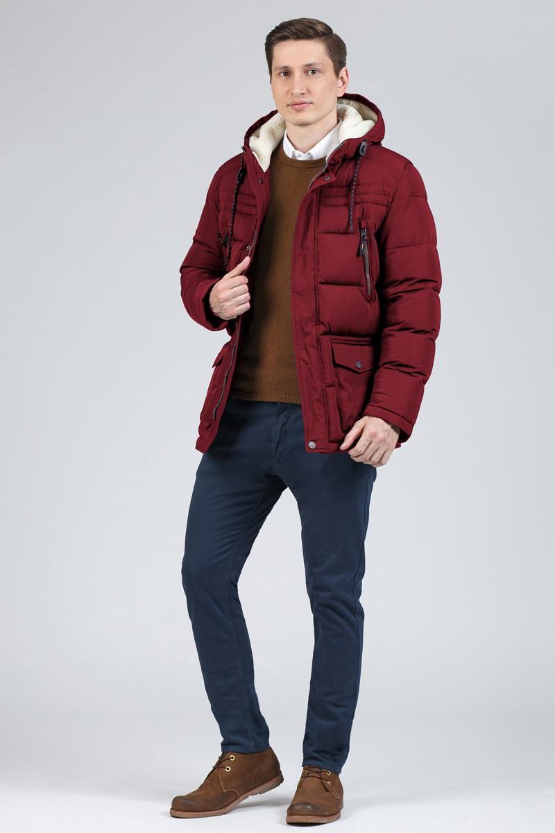 Пуховик мужской Tom Farr, цвет: красный. T4FM3117.26810-1. Размер 3XL (56) tom farr w15102037380 page 3