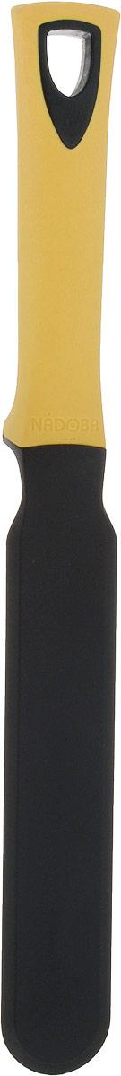 Лопатка кулинарная Nadoba Flava, цвет: черный, бежевый, длина 33,5 см лопатка nadoba flava 721615