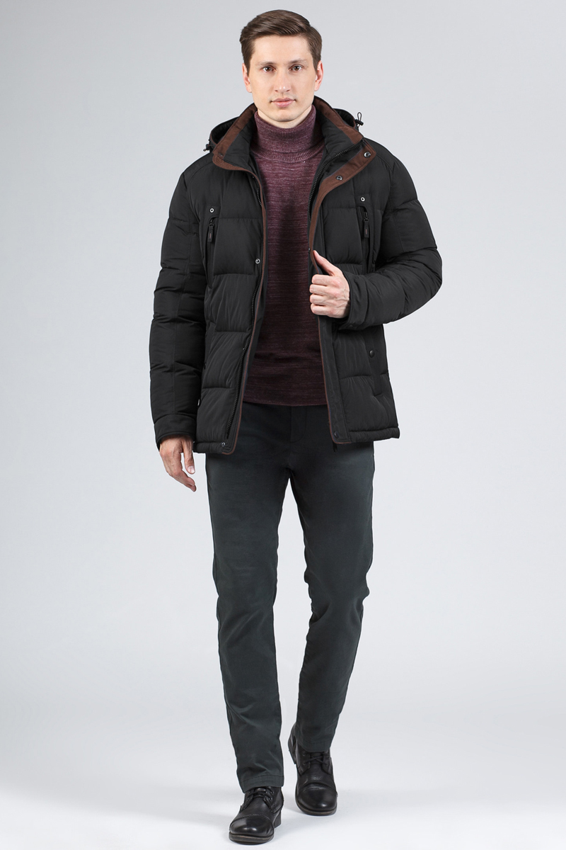 Пуховик мужской Tom Farr, цвет: черный. T4FM3123.58810-1. Размер M (48)