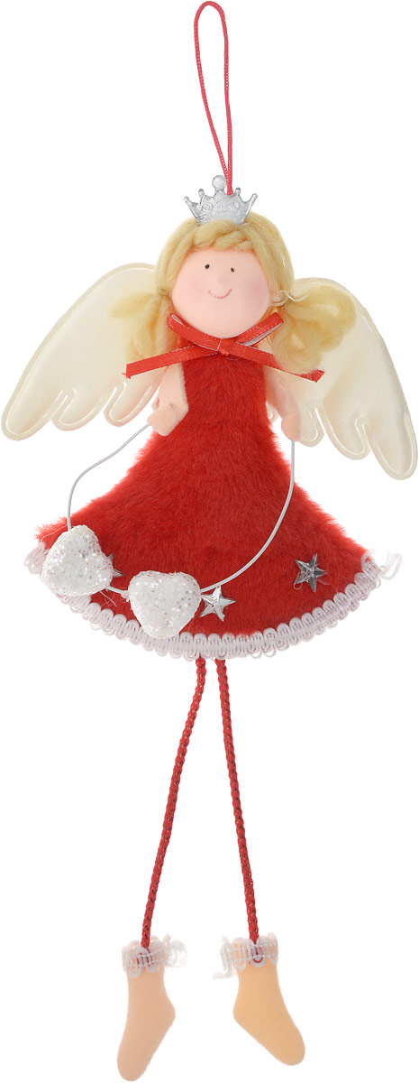 Новогодняя фигурка Ангел, цвет: красный, 23 см170734