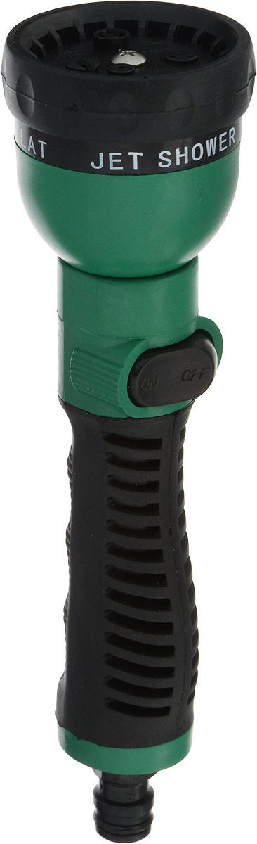 Насадка-распылитель для полива FIT, 7 позиций, цвет: черный, зеленый77295_черный, зеленыйНасадка для полива FIT, 7 позиций, цвет: черный, зеленый